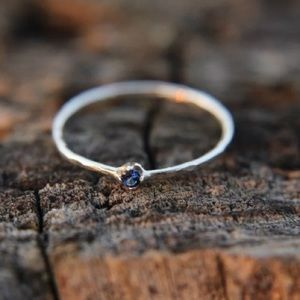 sterling silver stacking ring sapphire size 9